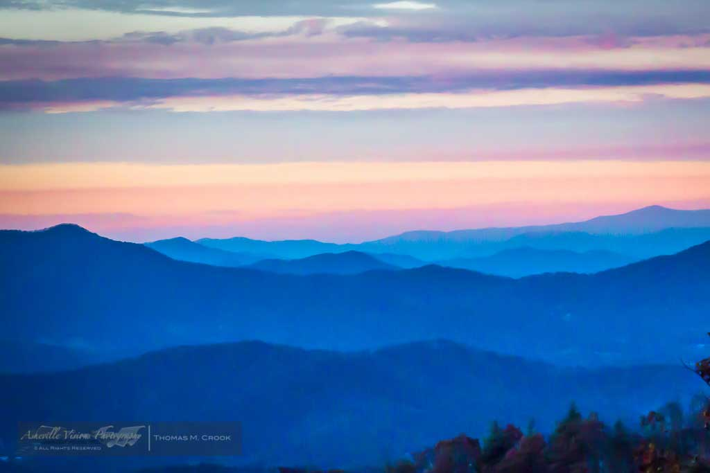 asheville sunset hominy valley