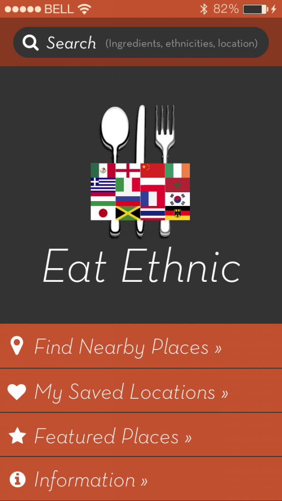 eat ethnic foodie mobile app