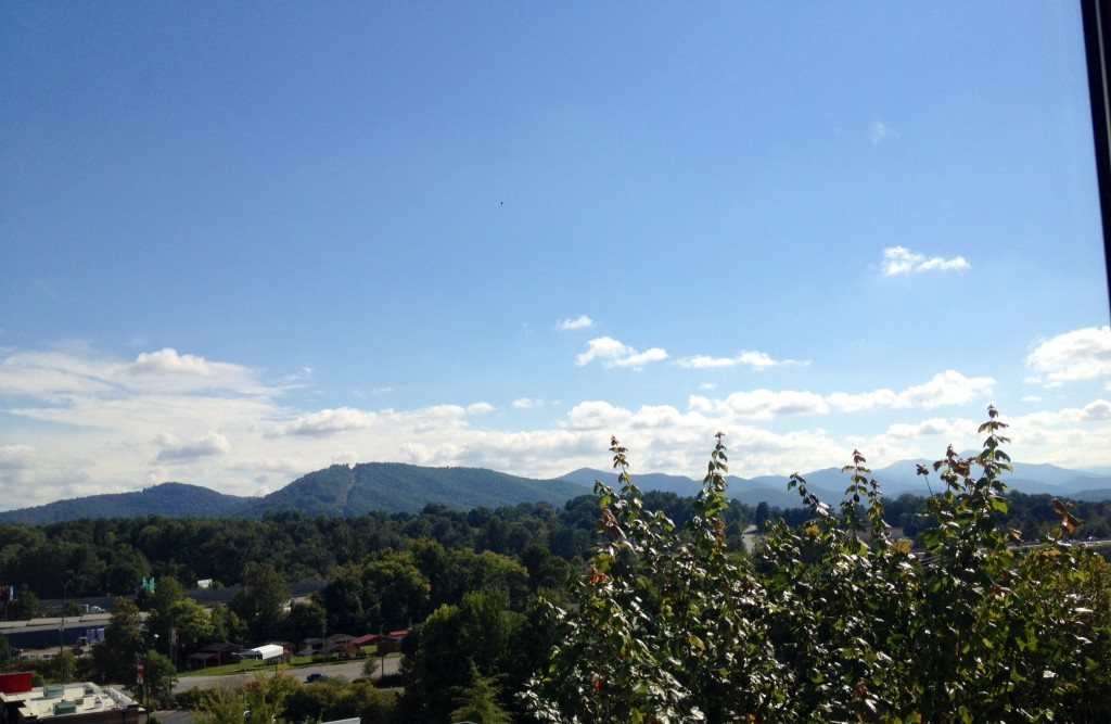 blue ridge mountains at sleep inn west asheville