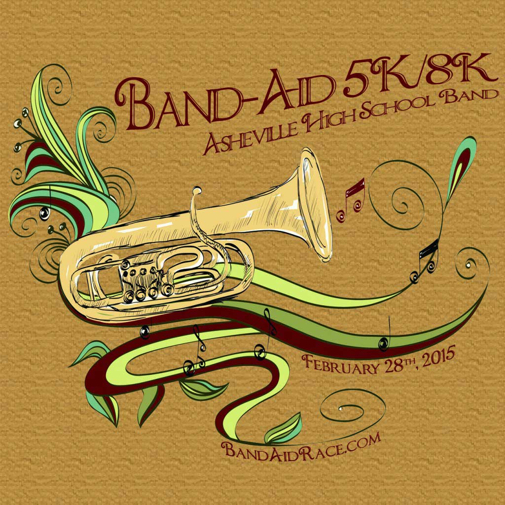 asheville high school band aid