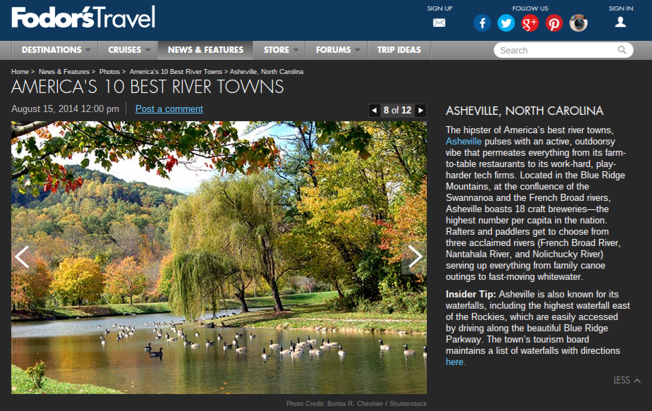 fodors travel asheville rivers