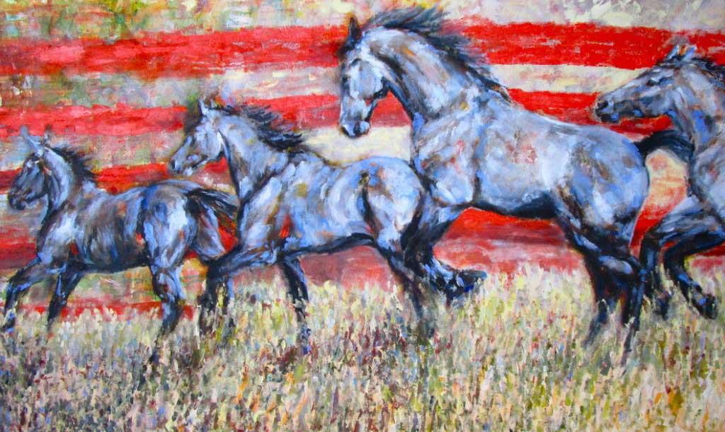 Equestrian Art Horses by Jennings Ingram