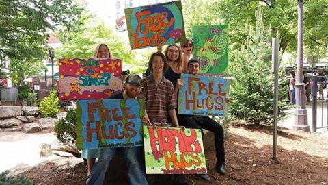 free hugs asheville nc
