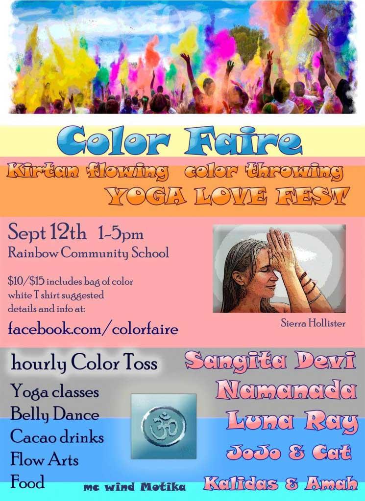 Color Faire Asheville Yoga Love Fest