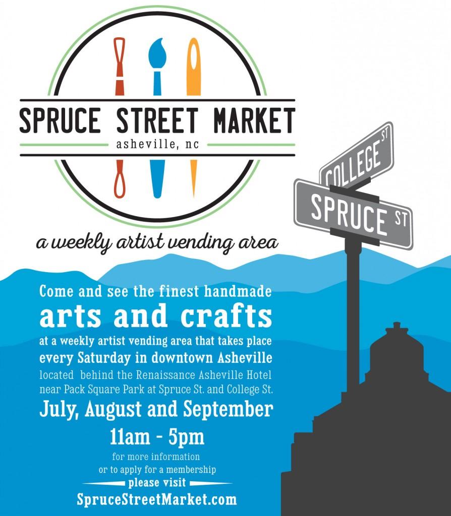 Spruce Street Market in Asheville NC
