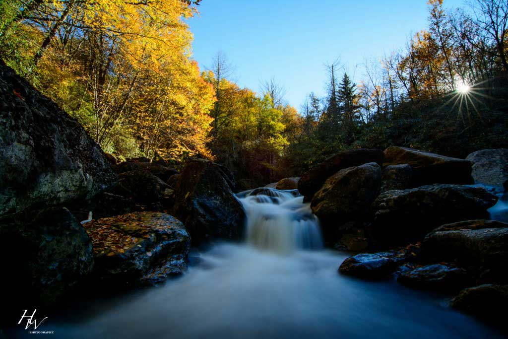 Ask Asheville Sunburst Falls by Hunter Ward