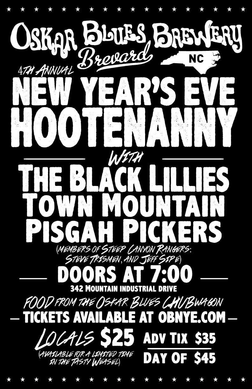 Brevard Hootenanny New Year's Eve