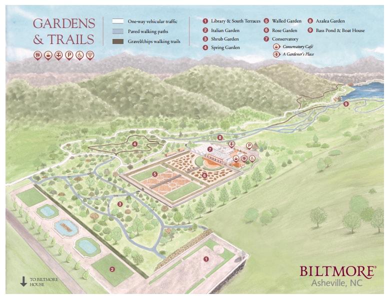Biltmore Estate Blooms in Asheville NC