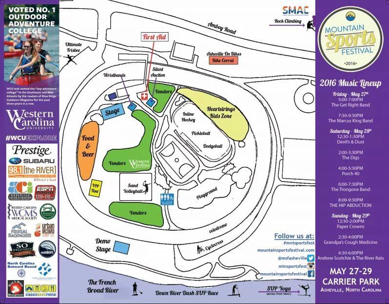 Mountain Sports Festival Asheville Map