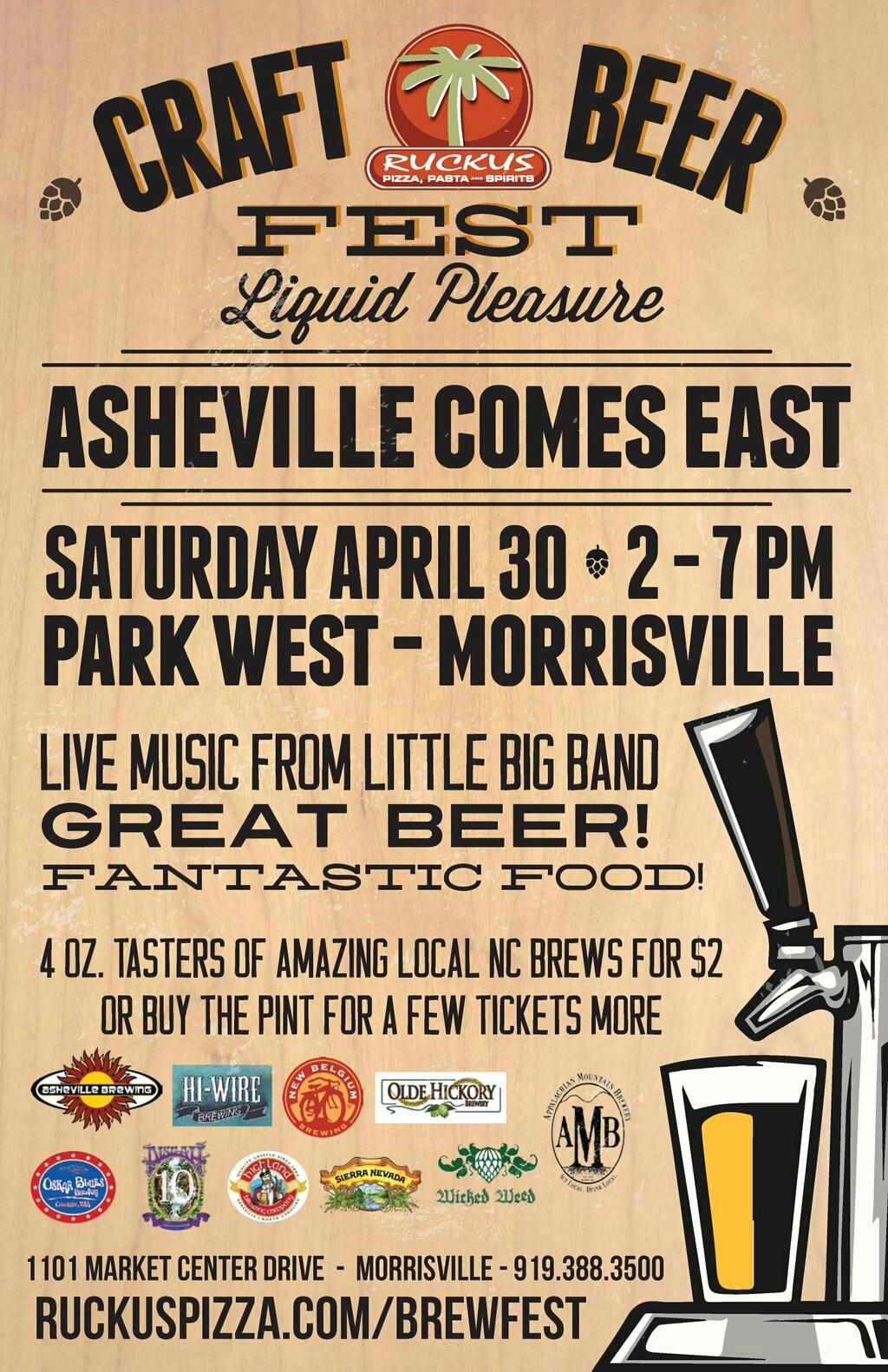 Asheville Comes East Craft Beer Fest