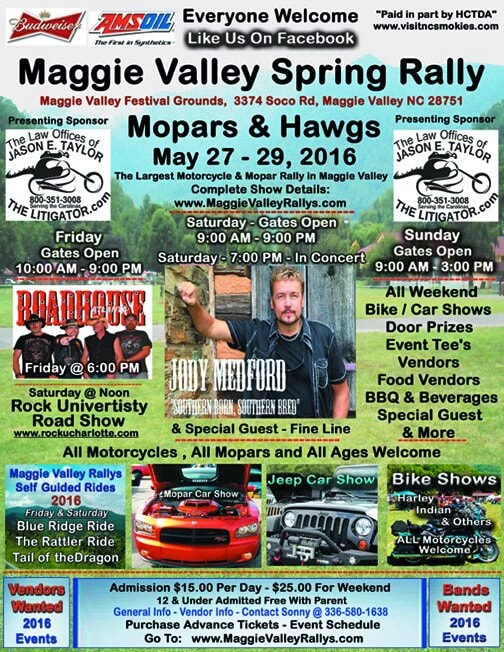 Maggie Valley NC Spring Rally