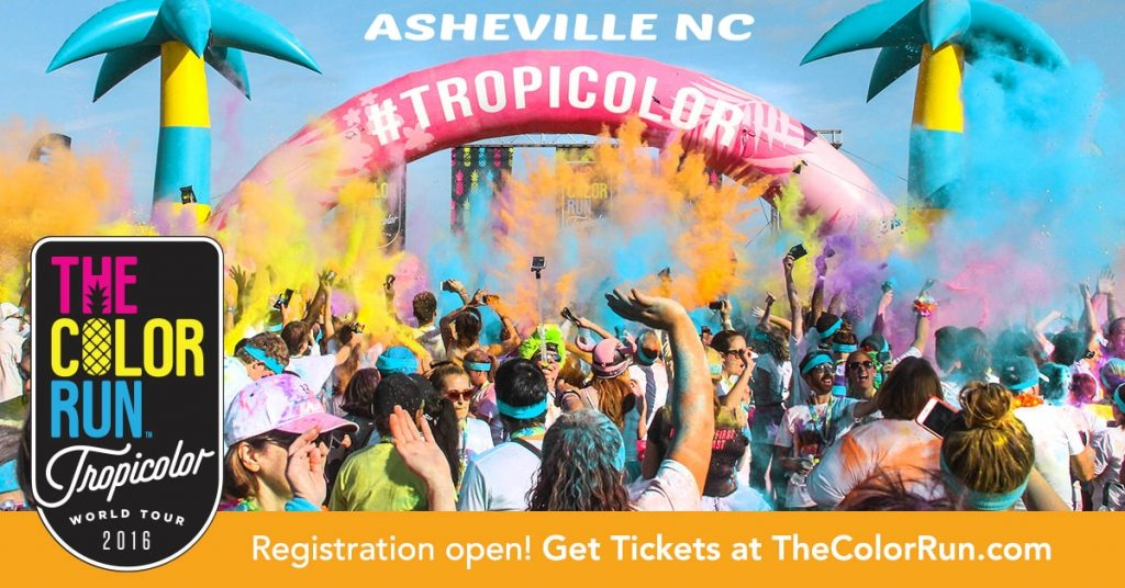 Asheville Color Run Tropicolor