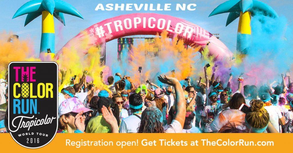 Asheville Color Run Tropicolor