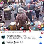 Asheville Drum Circle Video on Facebook