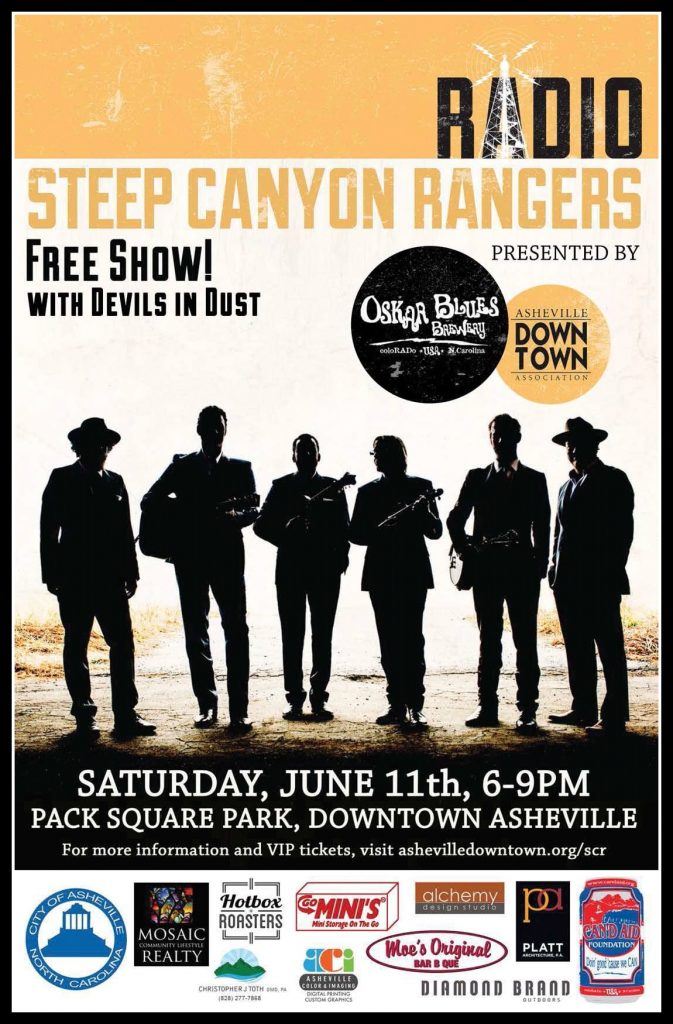 Free Steep Canyon Rangers Show in Asheville