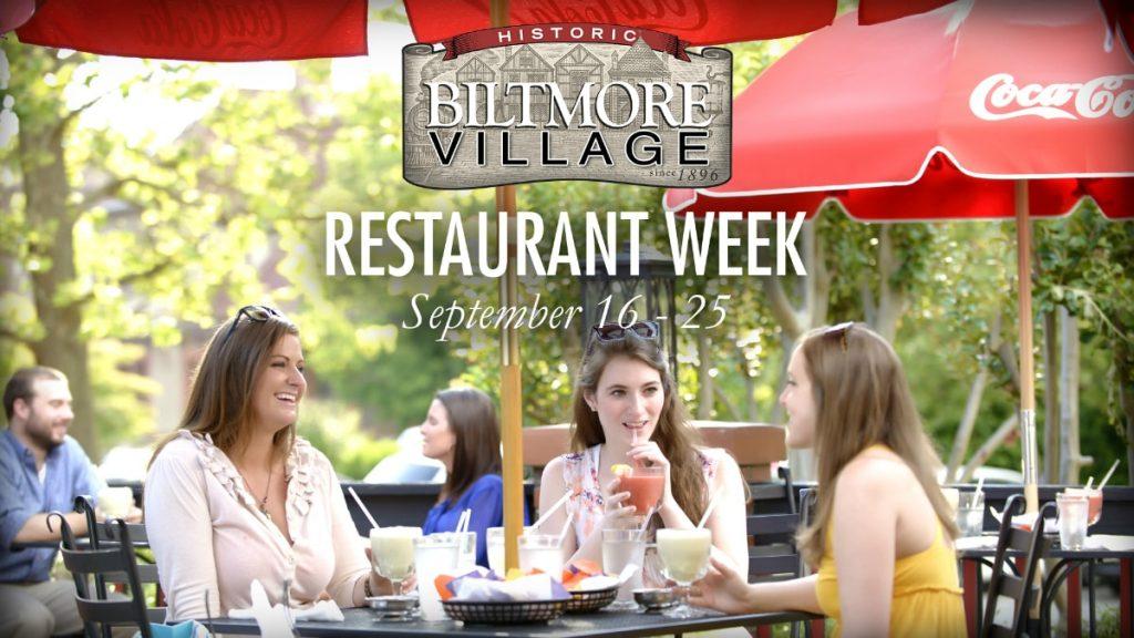Biltmore Village Restaurant Week in Asheville NC