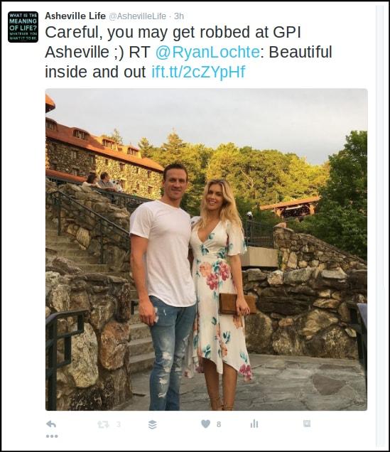 Ryan Lochte in Asheville NC