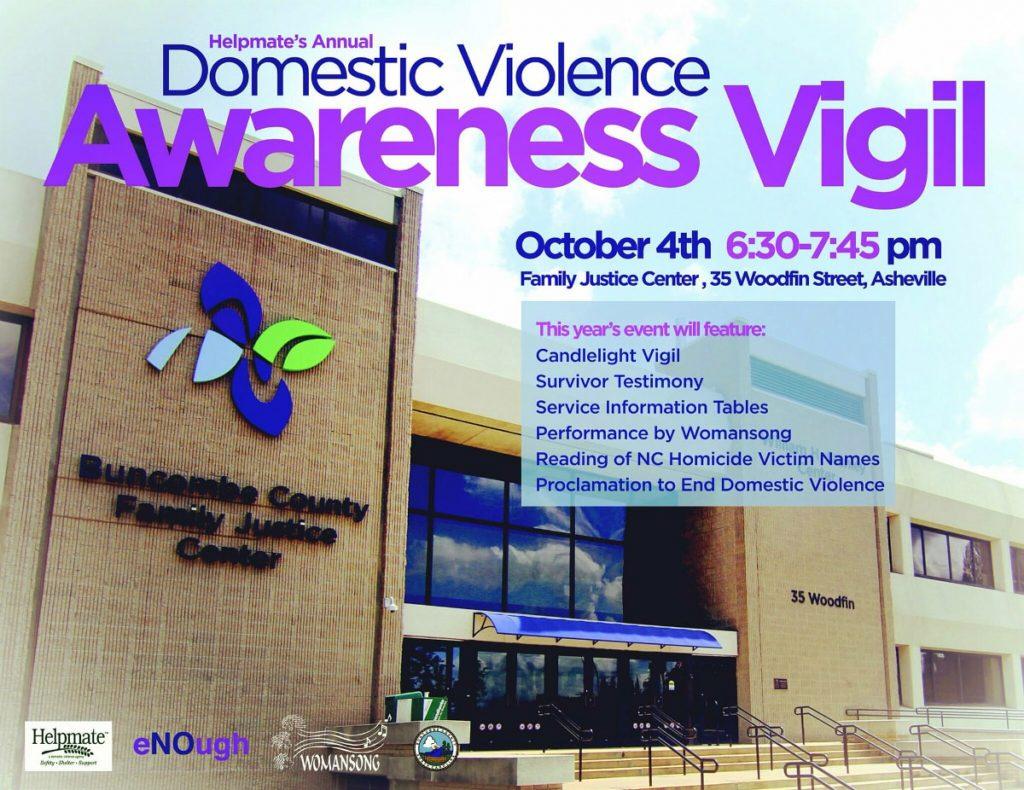 Asheville Domestic Violence Awareness Vigil