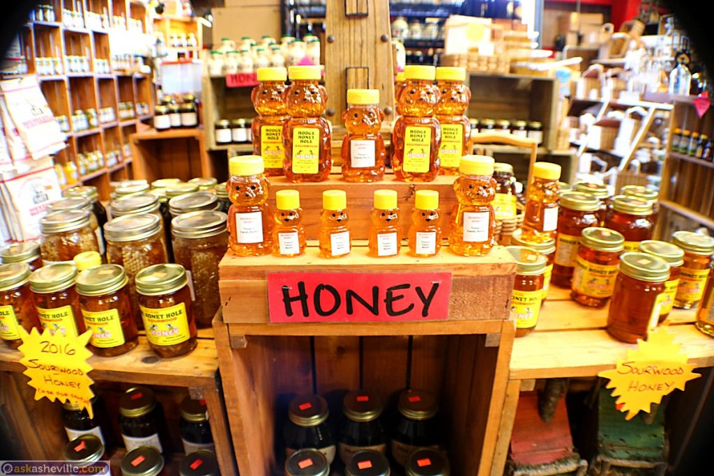 Honey at the WNC Farmers Market in Asheville NC