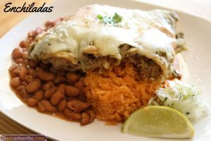 Enchiladas at Sonora Mexicana in Downtown Asheville